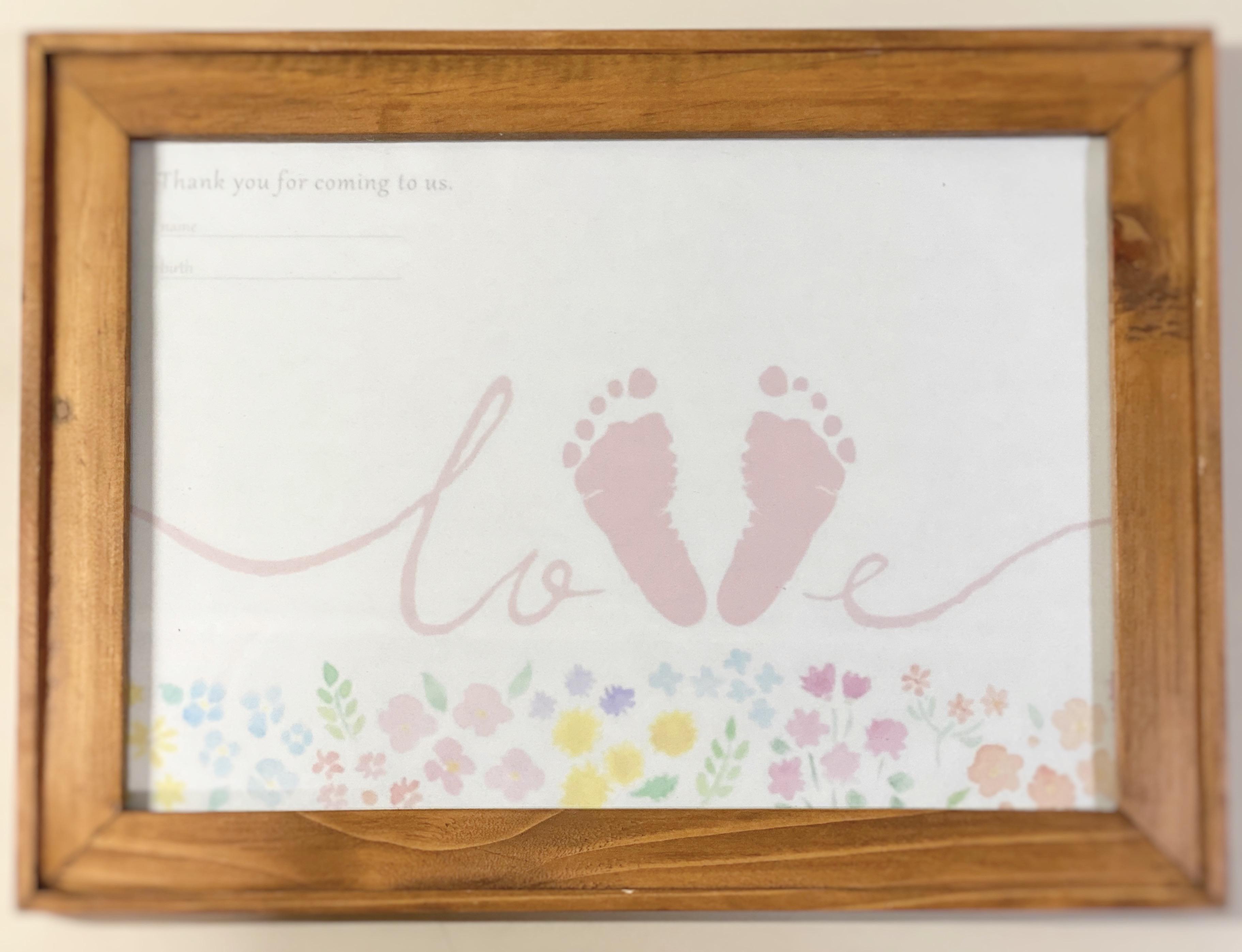 赤ちゃんはじめての足形アート【LOVE】